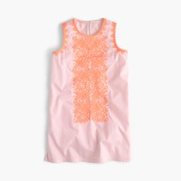 Girls' embroidered shift dress