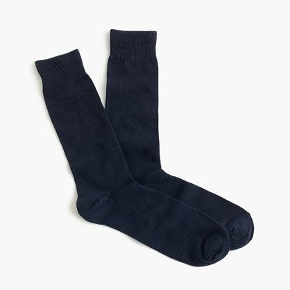 Solid cotton socks in navy