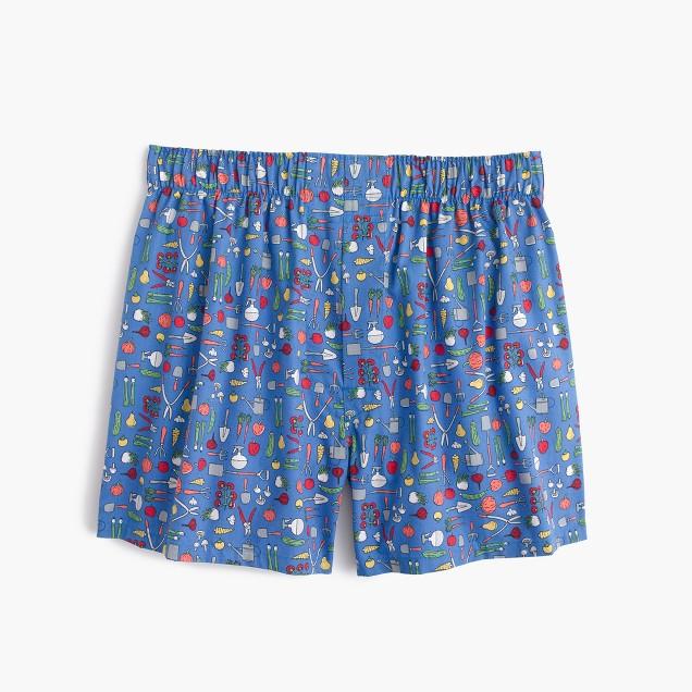 Gardening print boxers