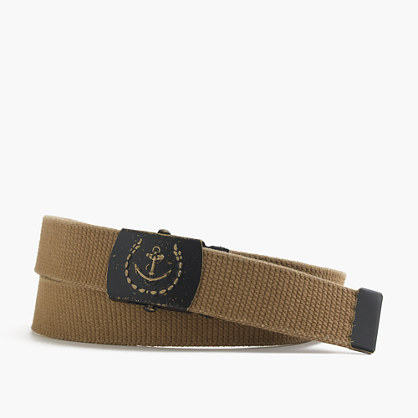 Braided fabric anchor belt