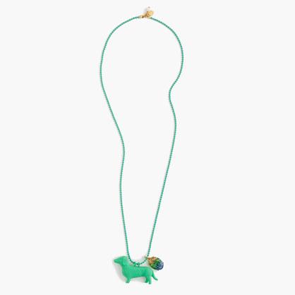 Girls' animal pendant necklace