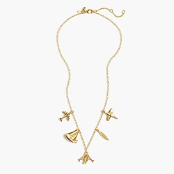 Girls' summer charm necklace