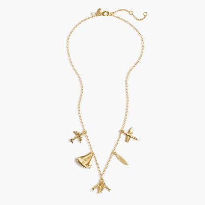Girls' summer charm necklace