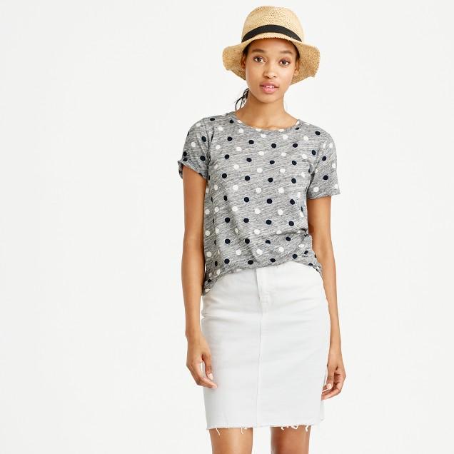 Mixed polka-dot T-shirt