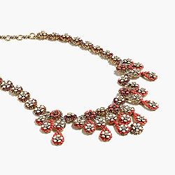 Floral chandelier necklace