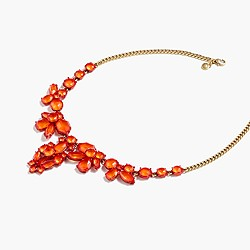 Fiery crystal necklace