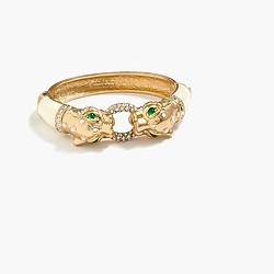 Enamel and pavé leopard bracelet