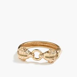 Gold-plated ram bracelet