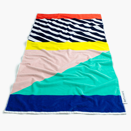 Kids' Sunnylife™ multistripe beach towel