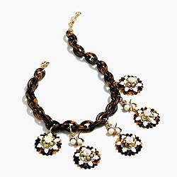 Tortoise medallion necklace