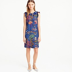 Ruffle dress in tropical floral