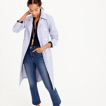 Trench coat in shirting stripe