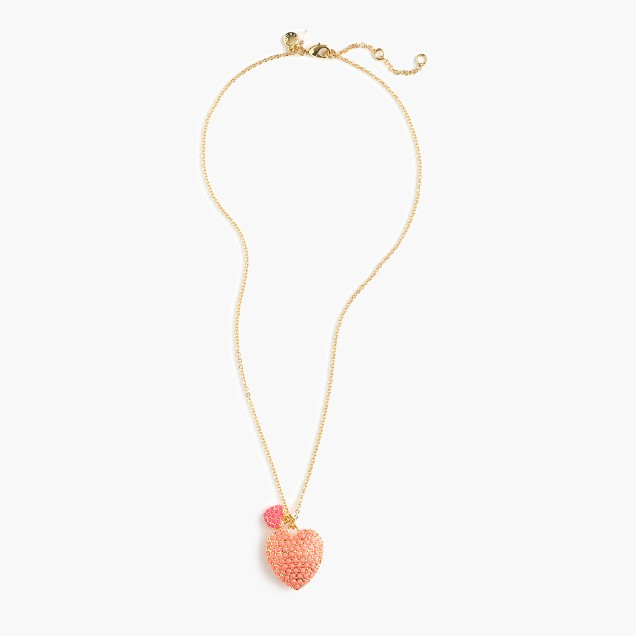 Girls' sparkly heart necklace