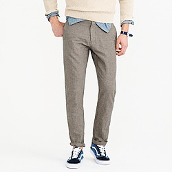Crosshatched cotton-linen pant in 770 fit