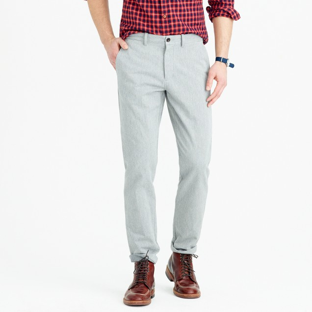 Brushed cotton melange twill pant in 770 straight fit