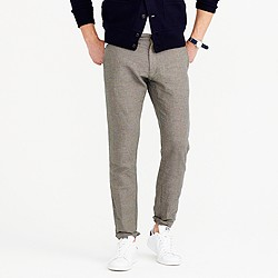 Crosshatched cotton-linen pant in 484 fit