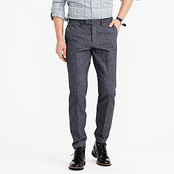 Bowery slim pant in brushed cotton twill