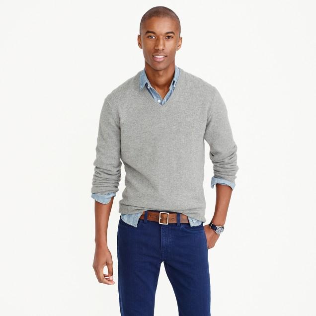 Italian cashmere V-neck sweater
