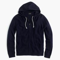 Italian cashmere full-zip hoodie