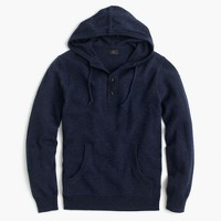 Italian cashmere henley hoodie