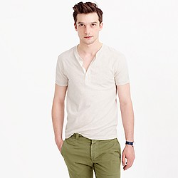 Short-sleeve flagstone henley