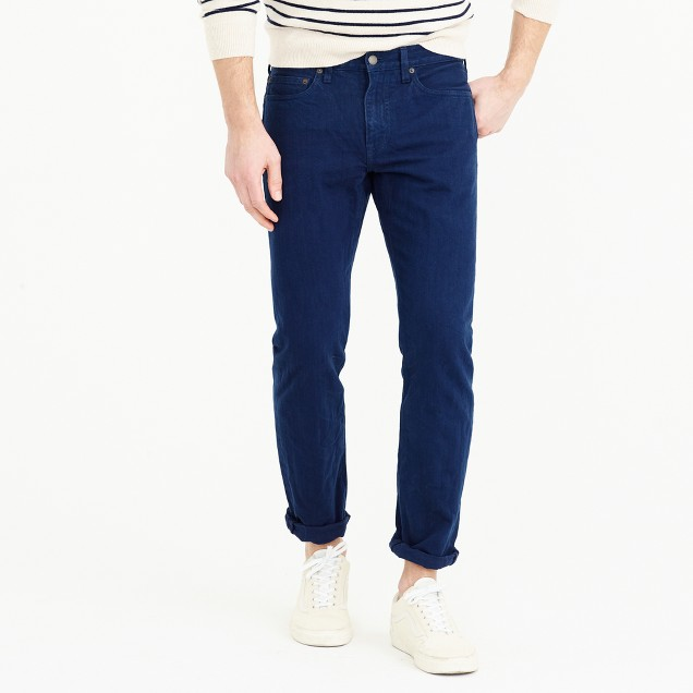 484 slim jean in garment-dyed American denim