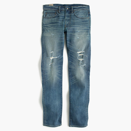 484 stretch jean in destroyed Kenwood wash