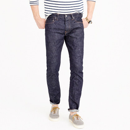 484 stretch selvedge jean in raw indigo