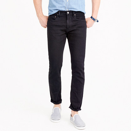484 Slim-fit jean in black stretch denim