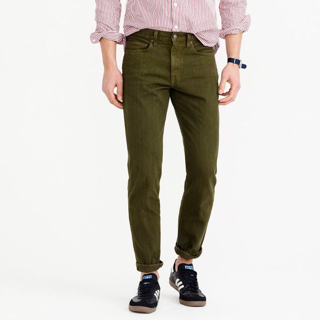 770 jean in garment-dyed American denim
