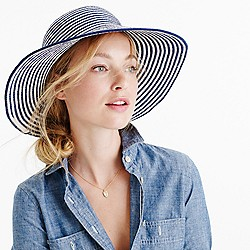 Striped sun hat in cotton blend