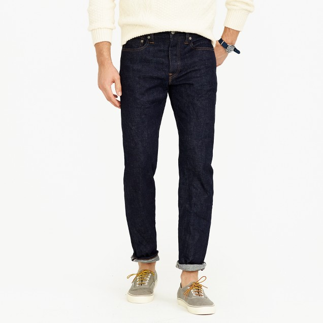 770 straight stretch selvedge jean in indigo