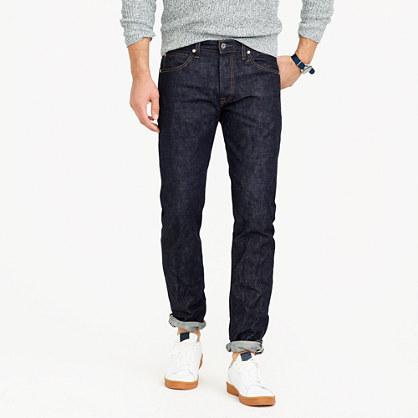 Wallace & Barnes slim selvedge jean in raw indigo