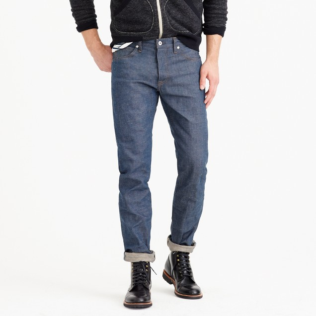 Wallace & Barnes slim raw selvedge jean