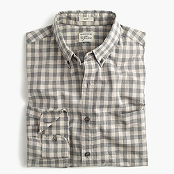 Slim Secret Wash shirt in heather poplin grey plaid