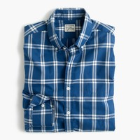 Slim Secret Wash shirt in washed indigo check