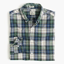 Tall Secret Wash shirt in blue tartan