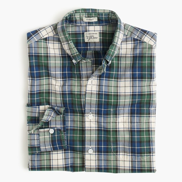 Secret Wash shirt in blue tartan