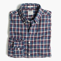 Secret Wash shirt in heather poplin plaid
