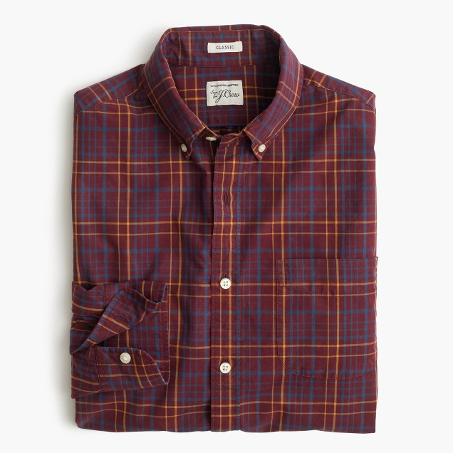 Secret Wash shirt in red plaid