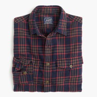 Midweight flannel shirt in plaid