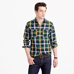Midweight flannel shirt in multicolor plaid