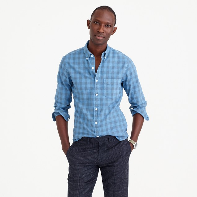 Slim oxford shirt in buffalo check