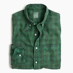 Slim oxford shirt in buffalo check