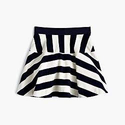 Girls' directional-stripe pull-on skirt