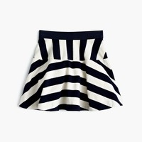 Girls' directional-stripe pull-on skirt