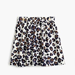 Girls' painted leopard-print skirt