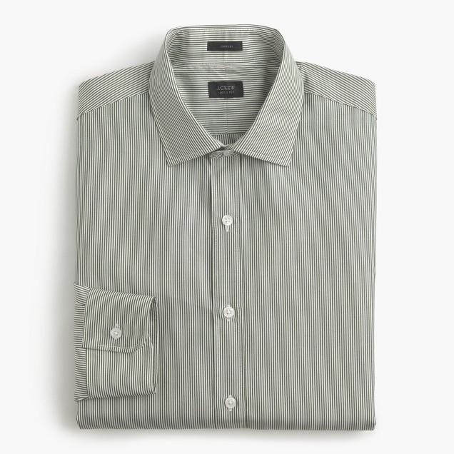 Crosby shirt in green stripe