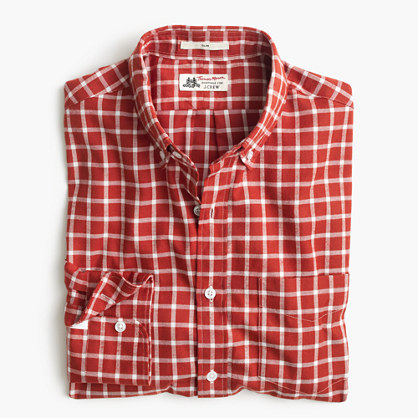 Slim Thomas Mason® for J.Crew shirt in brushed windowpane oxford