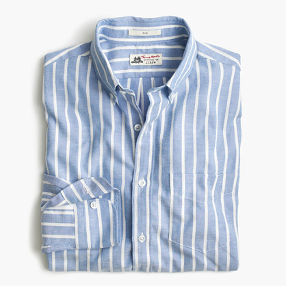 Slim Thomas Mason® for J.Crew shirt in brushed striped oxford